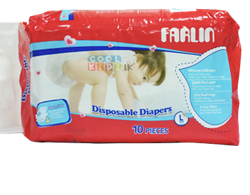 Picture of Farlin Baby Diaper 10 PCS-Large