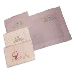 Picture of Kids Joy 2 Square Pillow Cases - White