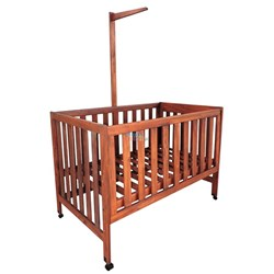 Picture of Kids Joy Nursery Cot - Mahogany