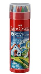 Picture of FABER CASTELL ERASABLE CRAYON SET OF 12 IN TIN BOX