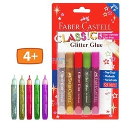 Picture of Faber Castell Glitter Glue Classic 5 Colours
