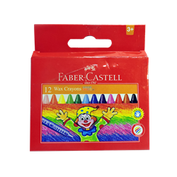 Picture of FABER CASTELL REGULAR WAX CRAYONS 12 - 75MM