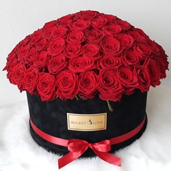 Picture of Red Roses Basket (30 nos)