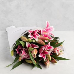 Picture of Pink Tiger Lily Bunch ( lily stem 5 nos)