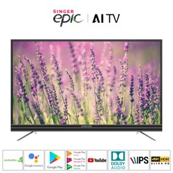 "Picture of Singer Epic 43"" 4K HDR Google Android AI Smart TV"