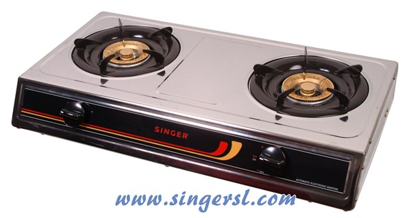 Picture of Singer Gas Burner Table Top (2 Burners | Stainless Steel Body)
