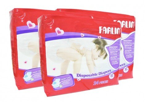 Picture of FARLIN DIAPER 24 PCS XL - (Buy 03 Pack)