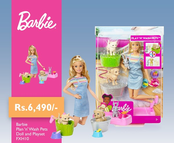 Picture of Barbie Plan 'n' Wash pets Doll and Playset
