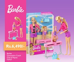 Picture of Barbie Gymnastics Coach Doll & Playset