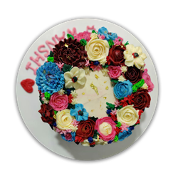 Picture of Full Floral Cake Design 2
