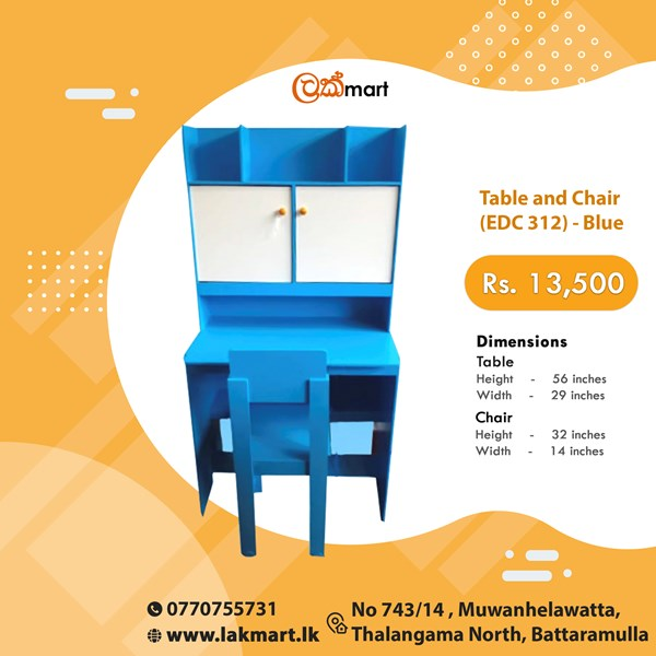 Picture of Table and Chair (EDC 312) - Blue