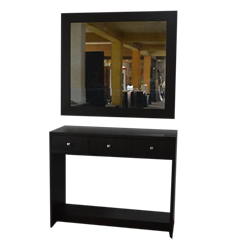Picture of Console Table with Mirror Frame - Dark Brown