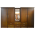 Picture of 5 Unit Wardrobe with Mirror - Teak Colour, Picture 1